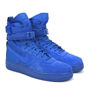 Nike Air Mens SF AF1 Game Royal Blue Boots Sz 9-13